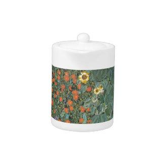 Gustav Klimt - Country Garden Sunflowers Flowers