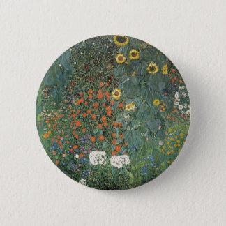 Gustav Klimt - Country Garden Sunflowers Flowers 2 Inch Round Button