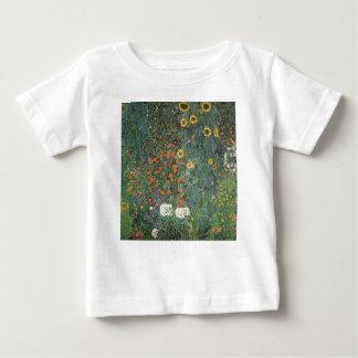 Gustav Klimt - Country Garden Sunflowers Flowers Baby T-Shirt