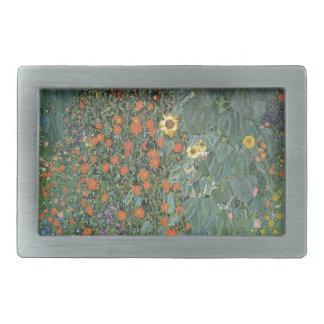 Gustav Klimt - Country Garden Sunflowers Flowers Belt Buckle