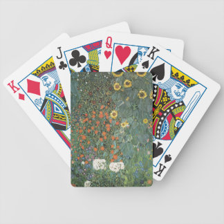 Gustav Klimt - Country Garden Sunflowers Flowers Bicycle Playing Cards