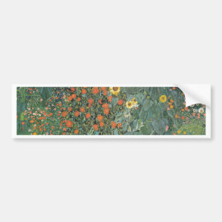 Gustav Klimt - Country Garden Sunflowers Flowers Bumper Sticker