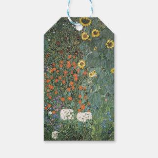 Gustav Klimt - Country Garden Sunflowers Flowers Gift Tags