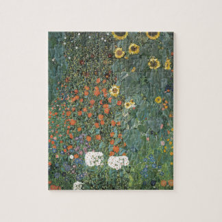 Gustav Klimt - Country Garden Sunflowers Flowers Jigsaw Puzzle