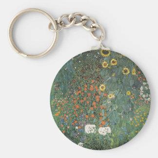 Gustav Klimt - Country Garden Sunflowers Flowers Keychain