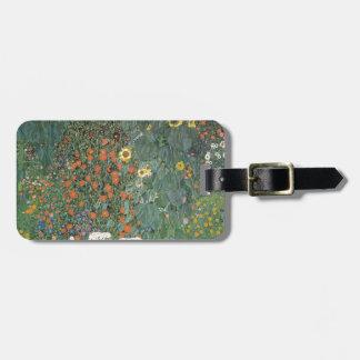 Gustav Klimt - Country Garden Sunflowers Flowers Luggage Tag