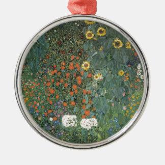 Gustav Klimt - Country Garden Sunflowers Flowers Metal Ornament