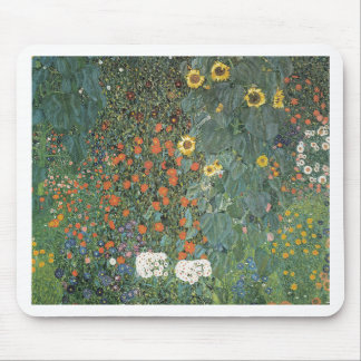 Gustav Klimt - Country Garden Sunflowers Flowers Mouse Pad