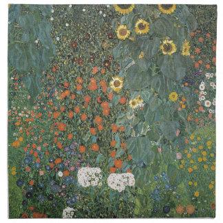 Gustav Klimt - Country Garden Sunflowers Flowers Napkin