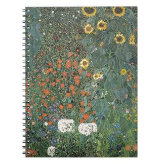 Gustav Klimt - Country Garden Sunflowers Flowers Notebooks