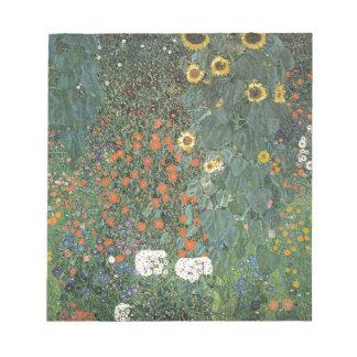 Gustav Klimt - Country Garden Sunflowers Flowers Notepad