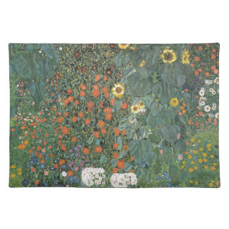Gustav Klimt - Country Garden Sunflowers Flowers Placemat