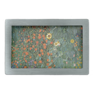 Gustav Klimt - Country Garden Sunflowers Flowers Rectangular Belt Buckles