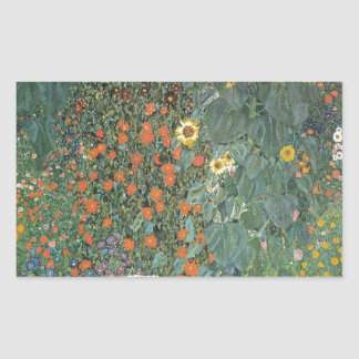 Gustav Klimt - Country Garden Sunflowers Flowers Sticker