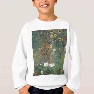 Gustav Klimt - Country Garden Sunflowers Flowers Sweatshirt