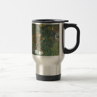 Gustav Klimt - Country Garden Sunflowers Flowers Travel Mug