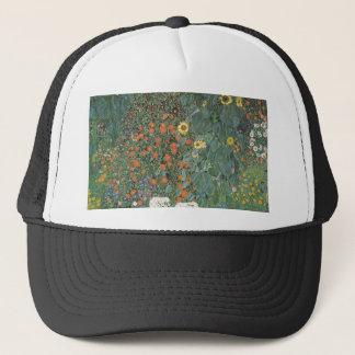 Gustav Klimt - Country Garden Sunflowers Flowers Trucker Hat