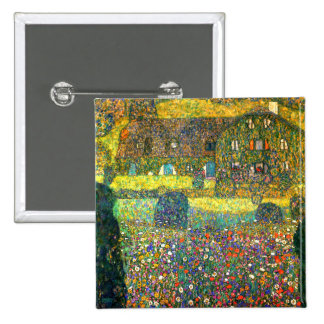 Gustav Klimt: Country House at the Attersee Buttons