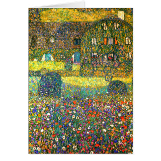 Gustav Klimt: Country House at the Attersee Card
