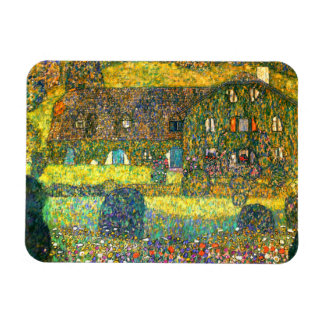Gustav Klimt: Country House at the Attersee Rectangular Photo Magnet