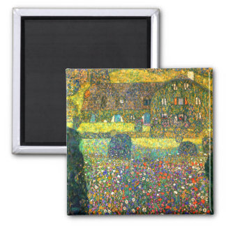 Gustav Klimt: Country House at the Attersee Square Magnet