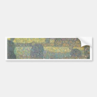 Gustav Klimt - Country House by the Attersee Art Bumper Sticker
