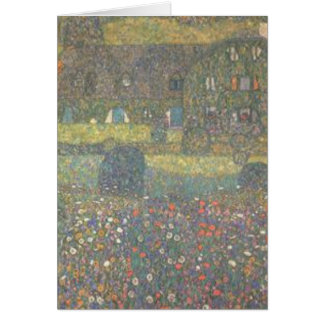 Gustav Klimt - Country House by the Attersee Art Card