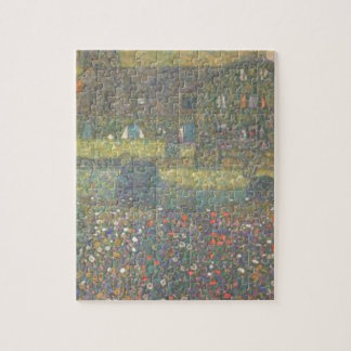 Gustav Klimt - Country House by the Attersee Art Jigsaw Puzzle