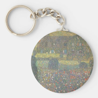 Gustav Klimt - Country House by the Attersee Art Keychain
