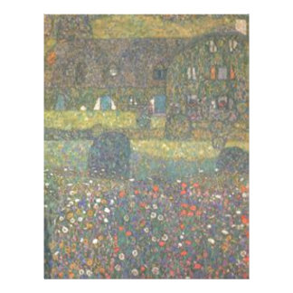 Gustav Klimt - Country House by the Attersee Art Letterhead