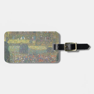 Gustav Klimt - Country House by the Attersee Art Luggage Tag