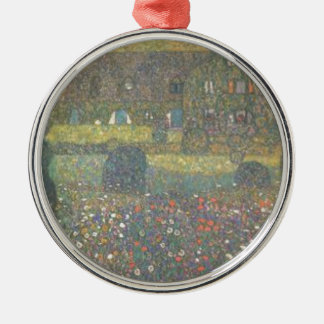 Gustav Klimt - Country House by the Attersee Art Metal Ornament