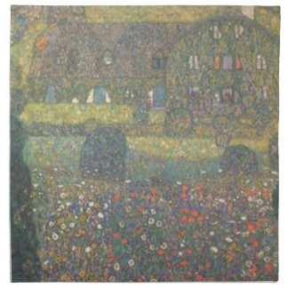 Gustav Klimt - Country House by the Attersee Art Napkin