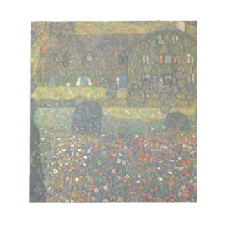 Gustav Klimt - Country House by the Attersee Art Notepad
