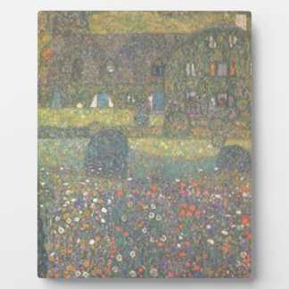 Gustav Klimt - Country House by the Attersee Art Plaque