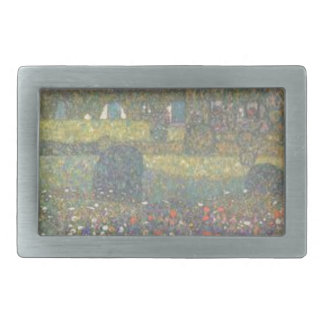 Gustav Klimt - Country House by the Attersee Art Rectangular Belt Buckles