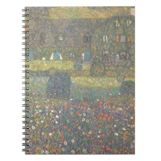 Gustav Klimt - Country House by the Attersee Art Spiral Notebook