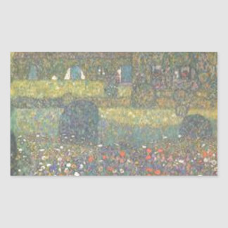 Gustav Klimt - Country House by the Attersee Art Sticker