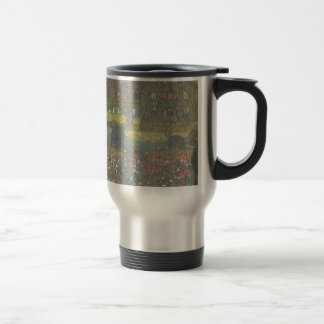 Gustav Klimt - Country House by the Attersee Art Travel Mug