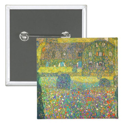 Gustav Klimt Country House by the Attersee Pinback Button