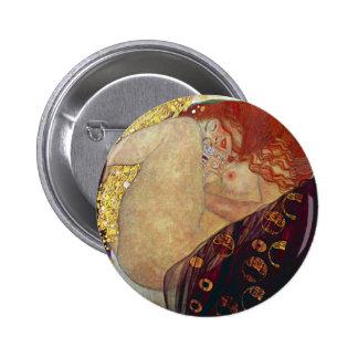 """Gustav Klimt, """"Danae"""" 2 Inch Round Button"""
