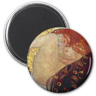 """Gustav Klimt, """"Danae"""" 2 Inch Round Magnet"""