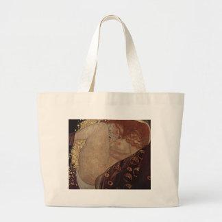 Gustav Klimt  - Danae - Beautiful Artwork Large Tote Bag