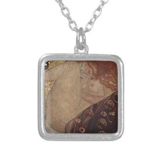 Gustav Klimt  - Danae - Beautiful Artwork Silver Plated Necklace