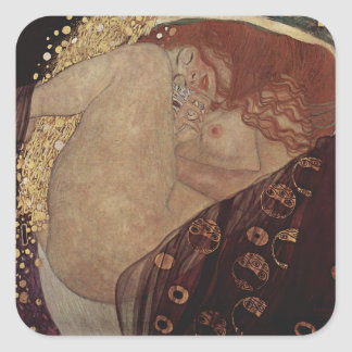 Gustav Klimt  - Danae - Beautiful Artwork Square Sticker