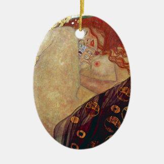 "Gustav Klimt, ""Danae"" Ceramic Oval Ornament"