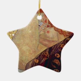 "Gustav Klimt, ""Danae"" Ceramic Star Ornament"