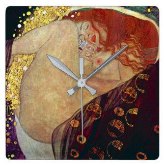 "Gustav Klimt, ""Danae"" Square Wall Clock"