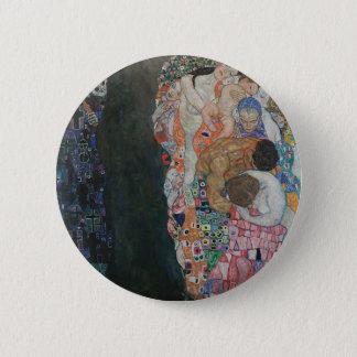 Gustav Klimt - Death and Life Art Work 2 Inch Round Button