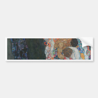 Gustav Klimt - Death and Life Art Work Bumper Sticker